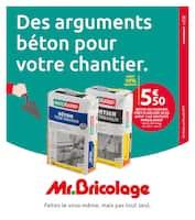 Catalogue Mr Bricolage en cours, Des arguments béton pour votre chantier., Page 1