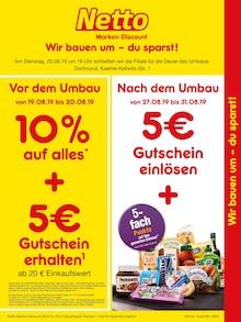 Netto Marken-Discount, WIR BAUEN UM - SIE SPAREN GLEICH DOPPELT! für Dortmund
