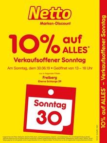 Netto Marken-Discount - Verkaufsoffener Sonntag - 10% auf alles
