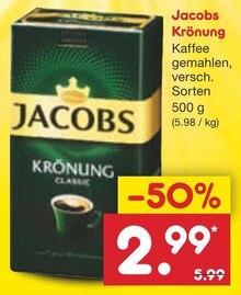Kaffee von Jacobs Krönung im aktuellen Netto Marken-Discount Prospekt für 2.99€