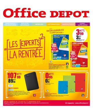 Catalogue Office DEPOT en cours, Fournitures, papeterie, cartables... Les meilleures offres avec les experts de la rentrée ! , Page 1