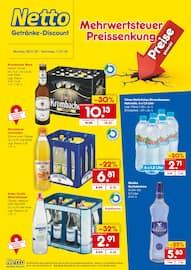 Aktueller Netto Getränke-Markt Prospekt, Mehrwertsteuer Preissenkung, Seite 1