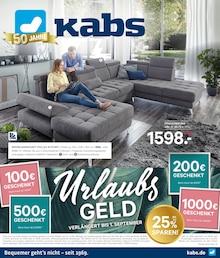 Kabs Polsterwelt - UrlaubsGELD verlängert bis 1. September