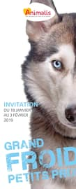 Catalogue Animalis en cours, Grand froid, petits prix, Page 1