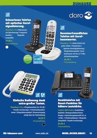 Aktueller aetka Prospekt, Mobil. Sicher. Smart. Das generationenübergreifende Technikmagazin., Seite 13