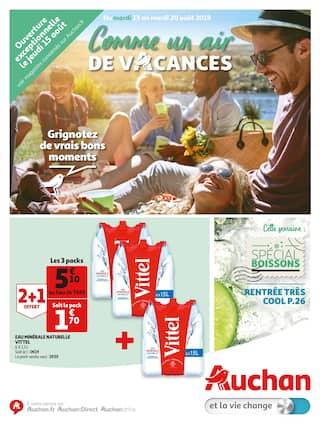 Catalogue Auchan en cours, Comme un air de vacances, Page 1