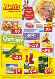 Aktueller Netto Marken-Discount Prospekt, Du willst ein leckeres Osterfest? Dann geh doch zu Netto!, Seite 1