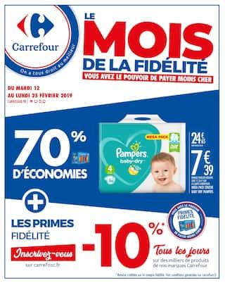 Catalogue Carrefour en cours, Le mois de la fidélité, Page 1
