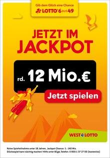 Westlotto Prospekt für Kirchhundem: Jetzt im Jackpot rd. 12 Mio. €, 1 Seiten, 24.10.2021 - 27.10.2021