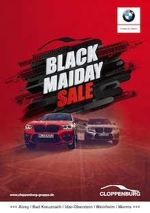 BMW, BLACK MAIDAY SALE für Frankfurt (Main)