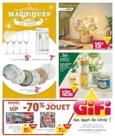 Catalogue Gifi en cours, Les magifiques tables de Noël, Page 1
