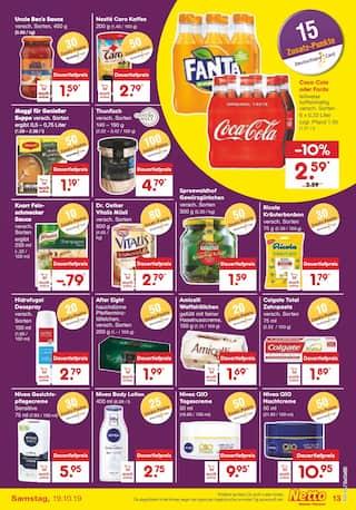 Cola im Netto Marken-Discount Prospekt Kaufe unverpackt! auf S. 14