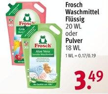 Waschmittel von Frosch im aktuellen Rossmann Prospekt für 3.49€