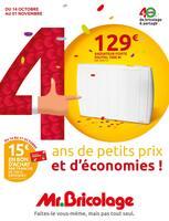 Catalogue Mr Bricolage en cours, 40 ans de petits prix et d'économies !, Page 1