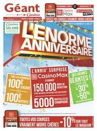 Catalogue Géant Casino en cours, L'énorme anniversaire, Page 1