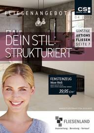 Aktueller Fliesenland GmbH Prospekt, Fliesenangebote, Seite 1