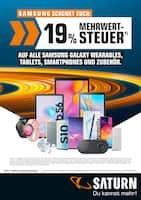 Aktueller Saturn Prospekt, SAMSUNG SCHENKT EUCH: 19% MEHRWERTSTEUER, Seite 1
