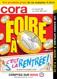 Catalogue Cora en cours, Foire à 1€, Page 1