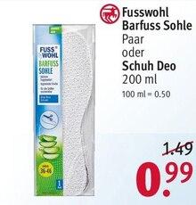 Schuhe von Fusswohl im aktuellen Rossmann Prospekt für 0.99€