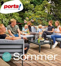 Aktueller porta Möbel Prospekt, Sommer. Unsere besonderen Outdoor - Trends., Seite 1