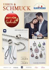Aktueller Kaufring Prospekt, Zeit für Geschenke - Uhren & Schmuck, Seite 1