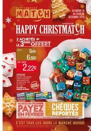 Catalogue Supermarchés Match en cours, Happy Christmatch, Page 1
