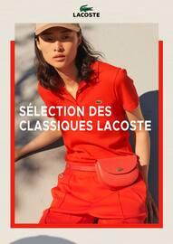 Catalogue Lacoste en cours, Sélection des classiques Lacoste, Page 1