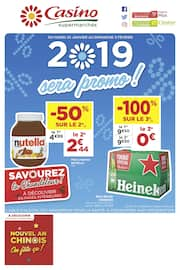 Catalogue Casino Supermarchés en cours, 2019 sera promo !, Page 1