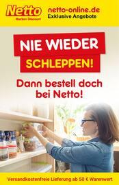 Aktueller Netto Marken-Discount Prospekt, NIE WIEDER SCHLEPPEN - DANN BESTELL DOCH BEI NETTO, Seite 1