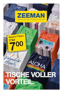 Zeeman - Tische voller Vorteil.