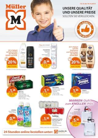 Aktueller Müller Prospekt, Unsere Qualität und unsere Preise, Seite 1