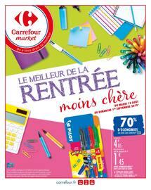 Catalogue Carrefour Market en cours, Le meilleur de la rentrée moins chère, Page 1