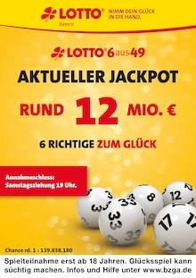 LOTTO Bayern - Aktueller Jackpot rund 12 Mio. €