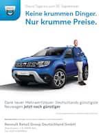 Aktueller Dacia Prospekt, Keine krummen Dinger. Nur krumme Preise., Seite 1