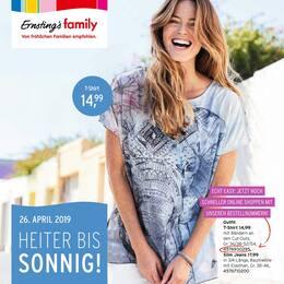 Aktueller Ernsting's family Prospekt, Heiter bis sonnig!, Seite 1