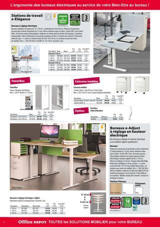 Catalogue Office DEPOT en cours, Tout le mobilier pour votre bureau, Page 4