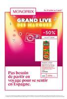 Catalogue Monoprix en cours, Le grand live des marques, Page 1