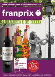 Catalogue Franprix en cours, De la vigne à la ville, Page 1