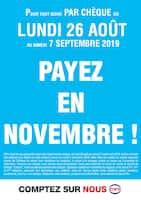 Catalogue Cora en cours, Payez en Novembre !, Page 1