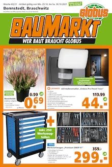 Globus-Baumarkt Prospekt für Lieskau b Halle, Saale: WER BAUT BRAUCHT GLOBUS, 20 Seiten, 23.10.2021 - 30.10.2021