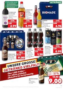 Bier im Kaufland Prospekt KÖNIGLICHE ANGEBOTE: HIER SPART JEDER! auf S. 22