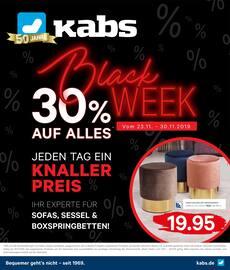 Aktueller Kabs Prospekt, Black Week. Jeden Tag ein Knallerpreis., Seite 1