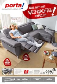 Aktueller porta Möbel Prospekt, Alles noch vor Weihnachten erhältlich!, Seite 1