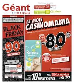Catalogue Géant Casino en cours, Black Friday, jusqu'à -90% d'économies, Page 1