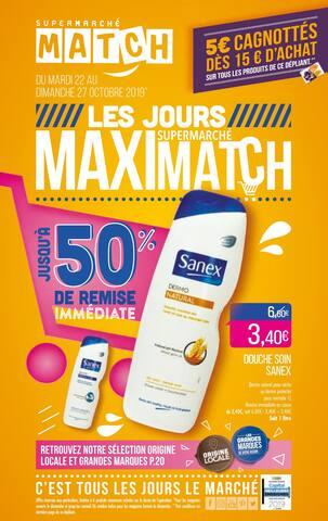Catalogue Supermarchés Match en cours, Les jours supermarché Maximatch, Page 1