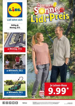 Aktueller Lidl Prospekt, Sommer, Sonne, Lidl-Preis , Seite 1