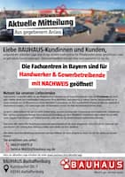 Aktueller BAUHAUS Prospekt, Aktuelle Mitteilung, Seite 1