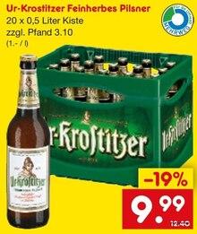 Bier von Ur-Krostitzer im aktuellen Netto Getränke-Markt Prospekt für 9.99€