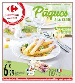 Catalogue Carrefour Market en cours, Pâques à la carte, Page 1