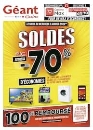 Catalogue Géant Casino en cours, Soldes jusqu'à -70% d'économies, Page 1